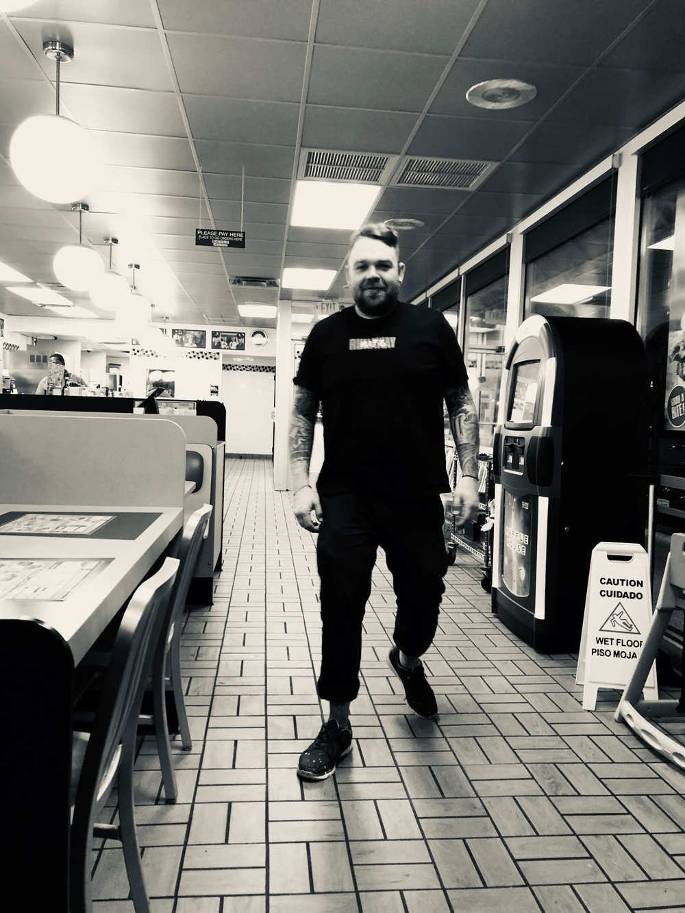 Portrait of Me at Waffle House in Durham NC, Shot by my brother Parker.