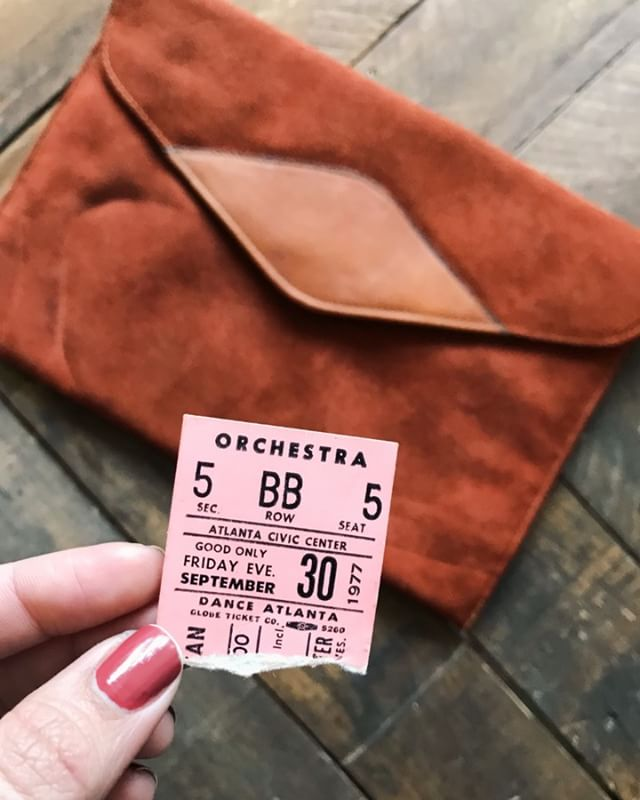 I thrifted this purse and found an orchestra ticket from 1977 inside 😍