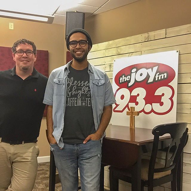 """Had an incredible time last week in the studio with @djbenjishepherd of @thejoyfmga talking about my song """"Friend in the Fire"""" and my journey of being a musician and worship leader! You can check it out TOMORROW 8/18 at 6:15pm on 93.3! Let me know what you think! . . . . . #ezrajacobmusic #iamknownep #friendinthefire #localmusic #indie #acoustic #atlanta #singersongwriter #originals #covers #guitar"""