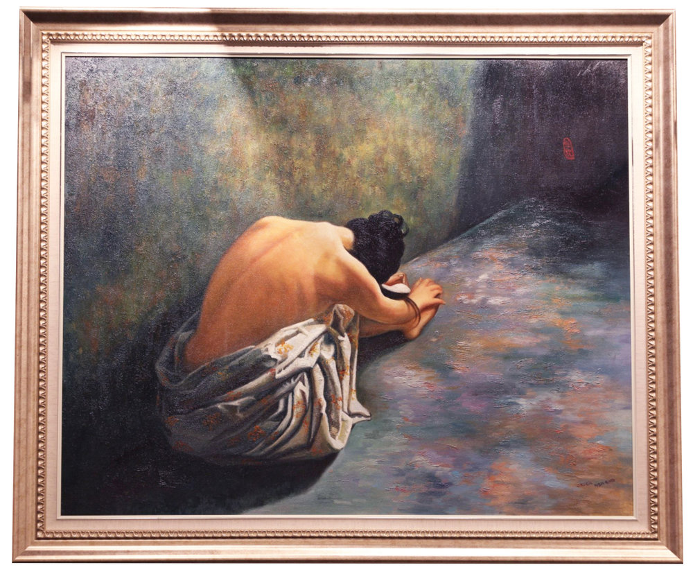 "CECILIA AISIN-GIORO   That Summer - Regret Original Oil On Canvas 34""H X 40""W"