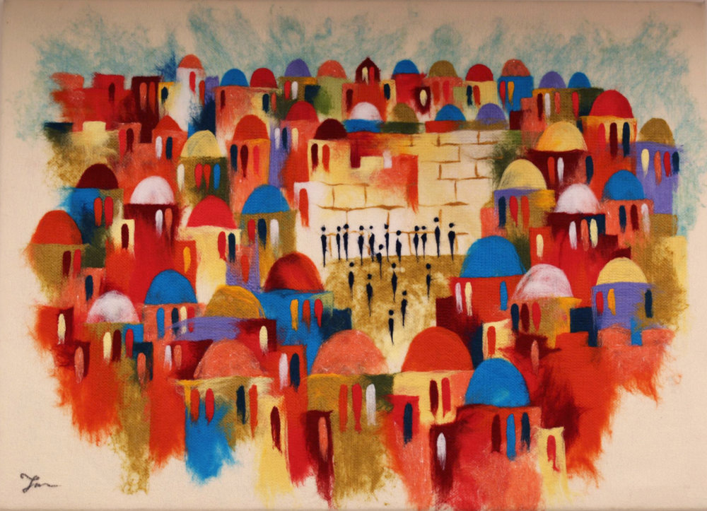 "ELENA YAMPOLSKY   The Western Wall II Original Acrylic Fiber | Soft Art 36"" H x 50"" W"
