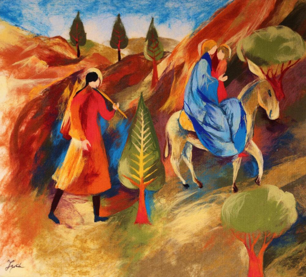 "ELENA YAMPOLSKY   Bible II Original Acrylic Fiber | Soft Art 42"" H x 38"" W"