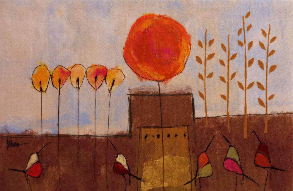 "JOHANAN HERSON   Nature III Original Acrylic Fiber | Soft Art 57"" H x 38"" W"