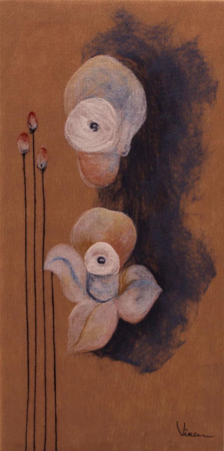 "VIKTORIA TALAEVSKY  Narcissus II Original Acrylic Fiber | Soft Art 36"" H x 18"" W"