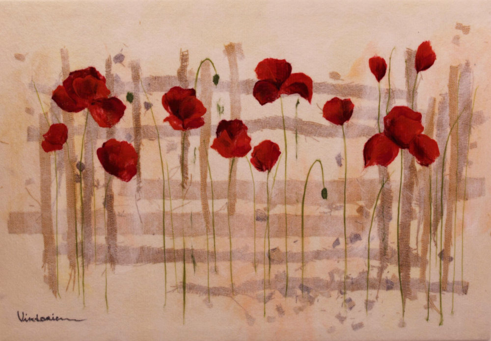 "VIKTORIA TALAEVSKY   Field of Flowers Original Acrylic Fiber | Soft Art 336"" H x 52"" W"