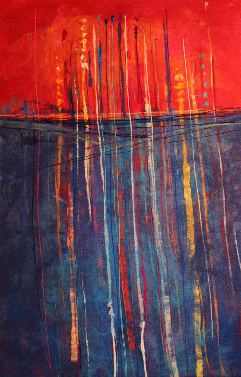 "JOHANAN HERSON   Seaweed Original Acrylic Fiber | Soft Art 51"" H x 34"" W"