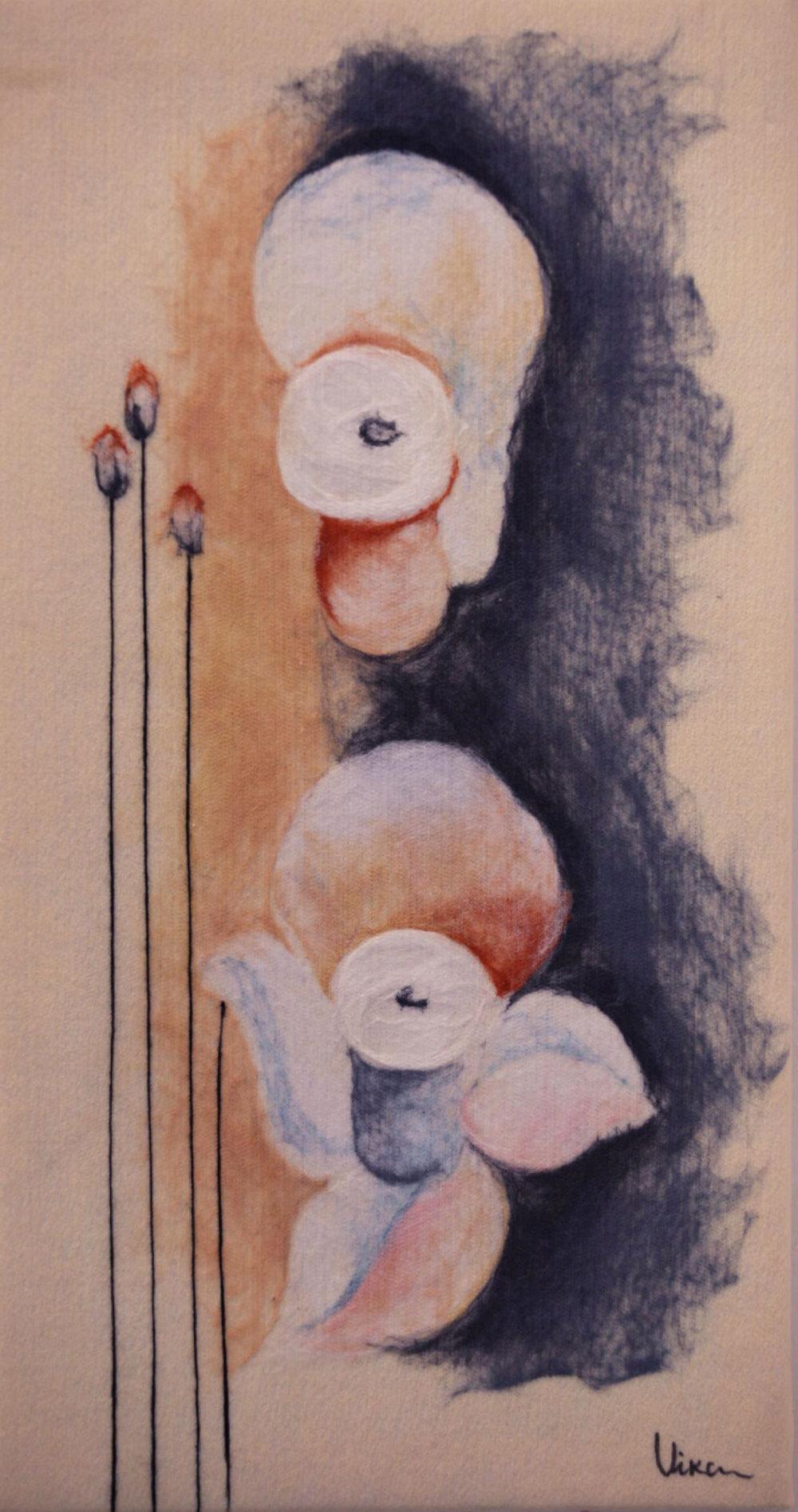 "VIKTORIA TALAEVSKY   Narcissus III Original Acrylic Fiber | Soft Art 36"" H x 18"" W"