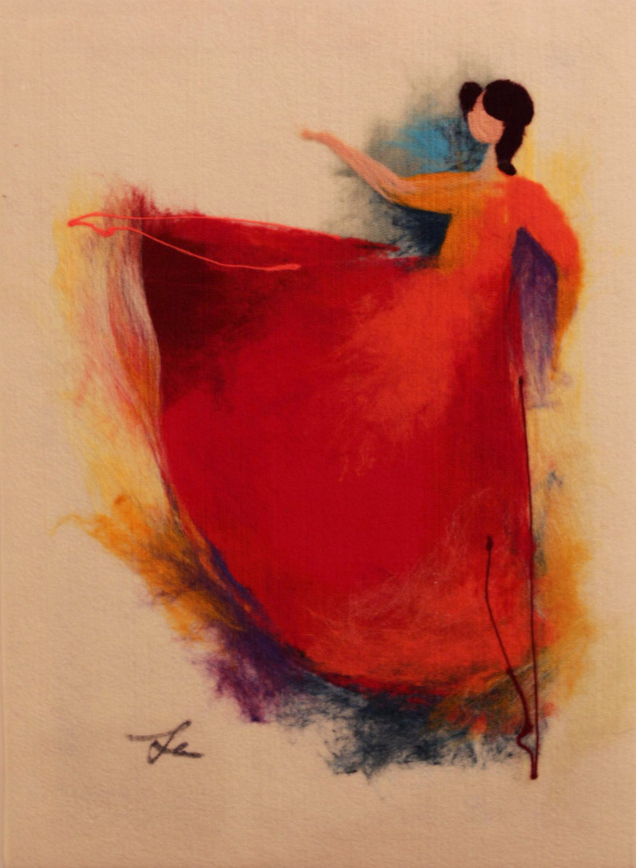 "ELENA YAMPOLSKY   The Ballerina II Original Acrylic Fiber | Soft Art 29"" H x 21"" W"