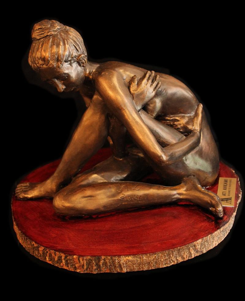 "ATI AHKAMI Inspiration Sculpture / Porcelain Clay Acrylic 10""H X 10""W"
