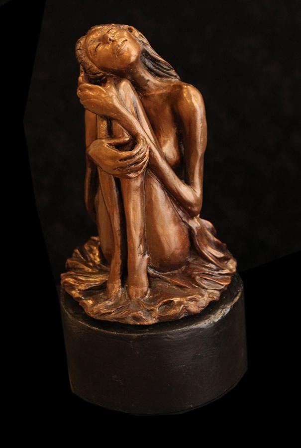 "ATI AHKAMI Dreamer Sculpture / Porcelain Clay Acrylic 13""H X 7""W"
