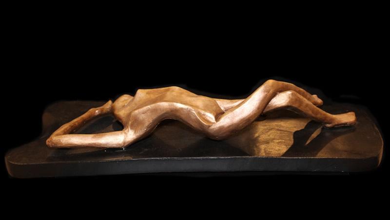 "ATI AHKAMI Serenity Sculpture / Porcelain Clay Acrylic 17""H X 8""W"