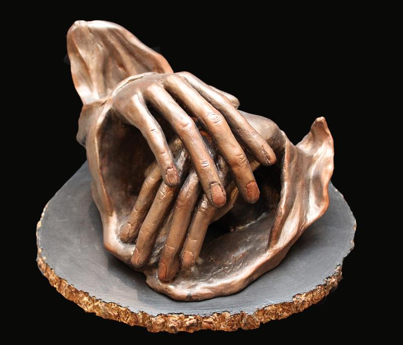 "ATI AHKAMI   Breezes   Sculpture / Porcelain Clay Acrylic   9""H X 13""W"