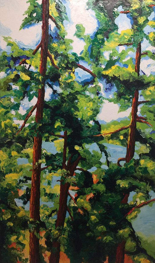 "LISA WOLFIN  The Secret Life Of Trees Original Oil 60"" H x 36"" W"