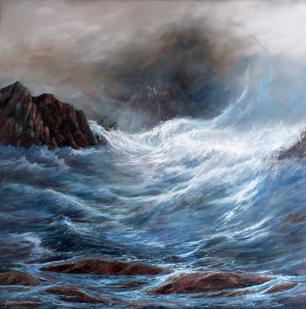 "ROSEMARIE ARMSTRONG  REVELATION III Original Oil 36"" H x 36"" W"