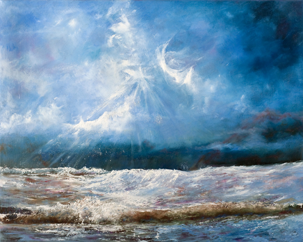"""ROSEMARIE ARMSTRONG  STORM FRONT Original Oil 16"""" H x 20"""" W"""