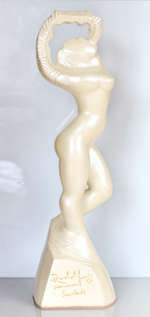 RUDOLF SOKOLOVSKI Saudade Yang - Pearl White Fiberglass Resin 32 inches