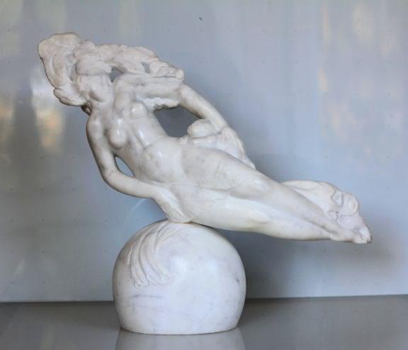 VALERI SOKOLOVSKI  Unison Italian carrara marble 17 x 20 inches