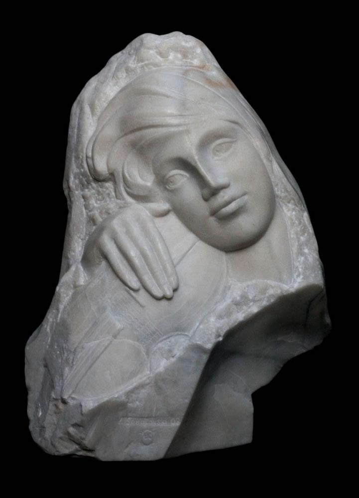 VALERI SOKOLOVSKI   Melody Italian carrara marble 21 inches