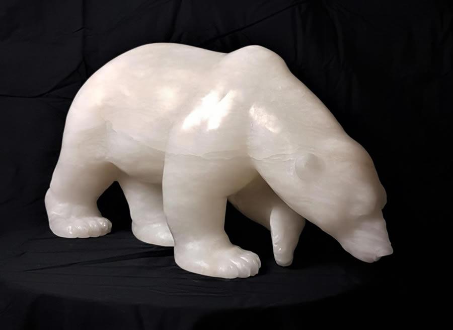 """ANDREW GABLE Zeus Alabaster Sculpture 24"""" X 12.5"""" X 8"""""""