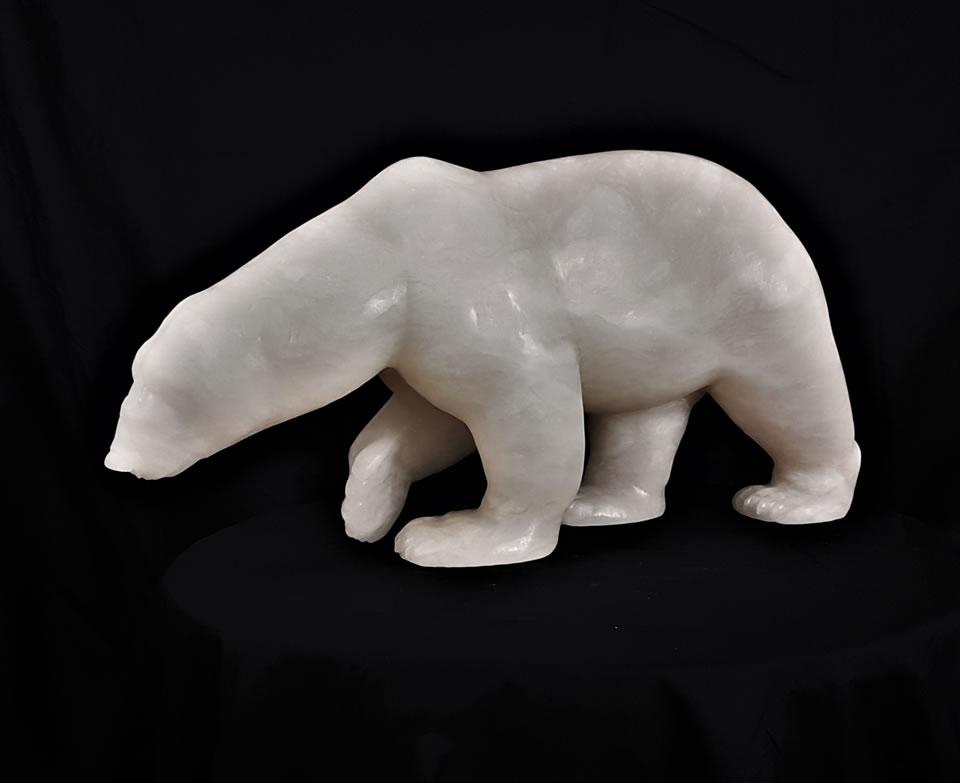 """ANDREW GABLE Venus Alabaster Sculpture 23"""" X 12"""" X 7.5"""""""