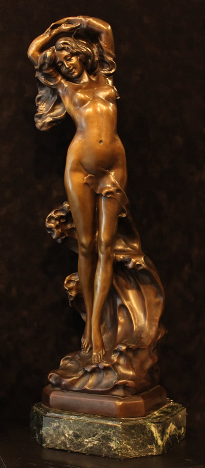 "VITTORIO CARADOSSI  Sea Nymph Original Bronze 24"" H x 8"" W"