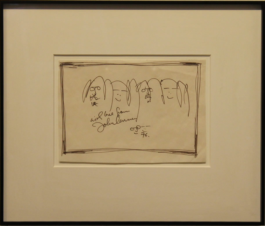 "JOHN LENNON Forever Love Original Hand Drawn 14.5"" H x 17.5"" W"