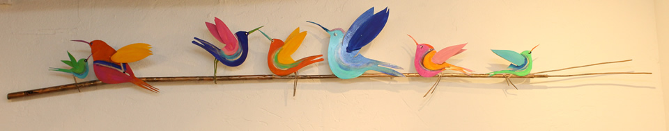 JOHANAN HERSON  4 Birds On A Wire Sculpture