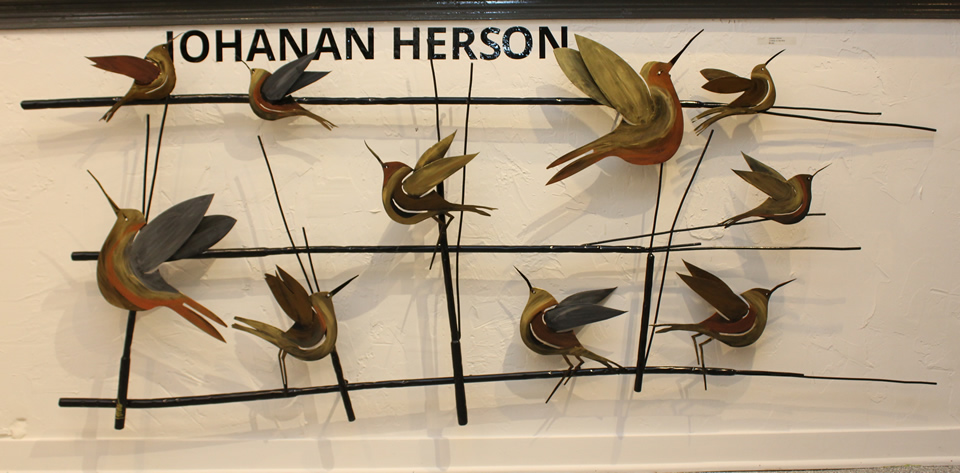 JOHANAN HERSON  10 Birds On A Wire Sculpture