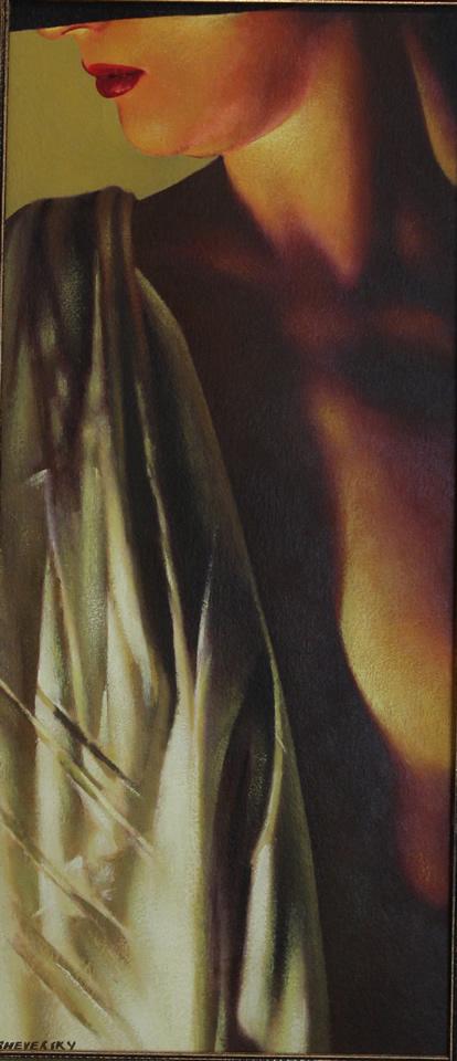 ALEXANDER SHEVERSKY  Golden Glow Original Oil 9.5 X 21.5