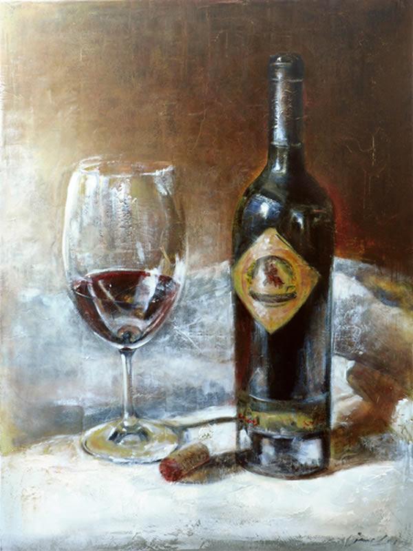 "JANICE MCLEAN  Castello  Original Oil, leafing & marble dust  36"" x 48"""