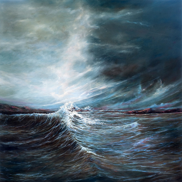 ROSEMARIE ARMSTRONG  Rogue Wave Original Oil 36 X 36
