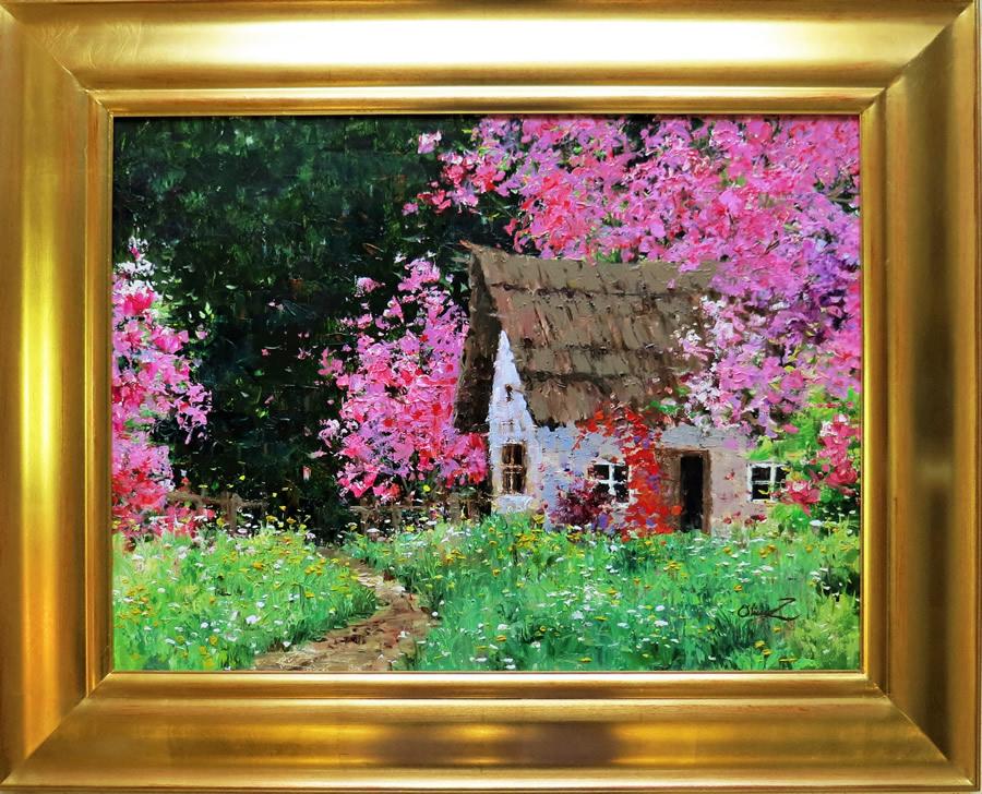 OLIVIA ZENG  Gardener's House Original Oil 18 X 24