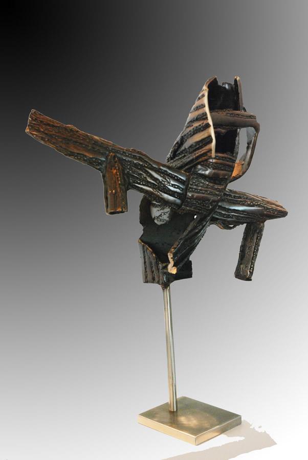 JOCK HILDEBRAND  COMPLEX MATTER Original Bronze and Metal 21 inches