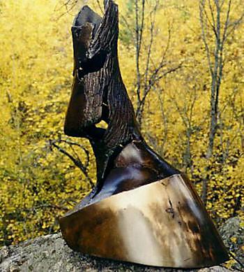 JOCK HILDEBRAND  Hoof Original Bronze and Metal Sculpture 29 X 12