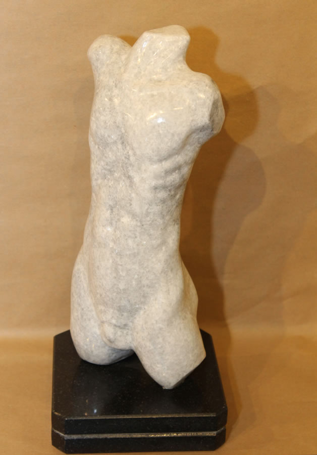 JIM PESCITELLI  His Torso Original Georgian Soapstone 13.5 X 6