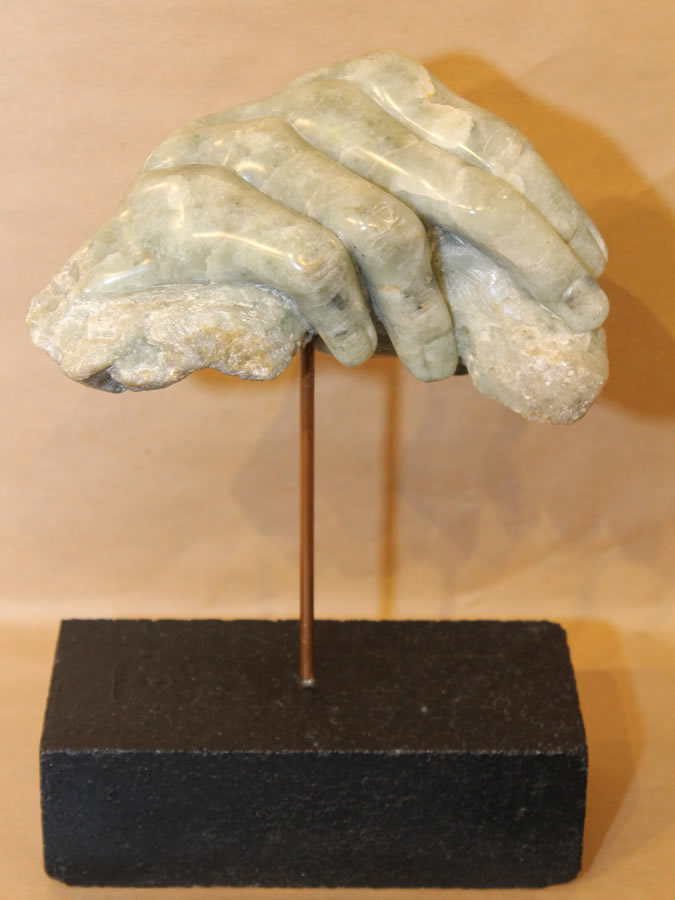 JIM PESCITELLI  Sculptor Original Sandstone and Jade 12 X 8