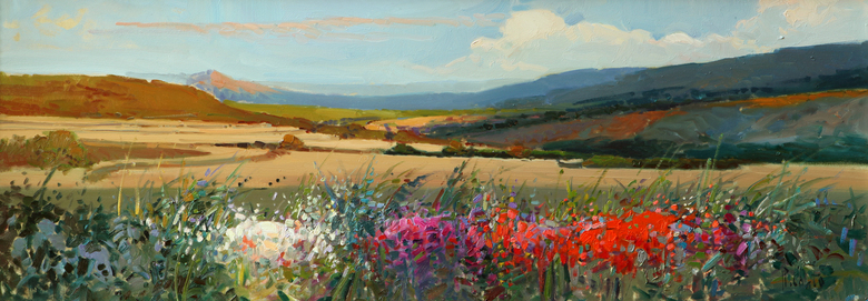 ROSA CANTO  Landscape  Oil on Panel  12 x 31.5