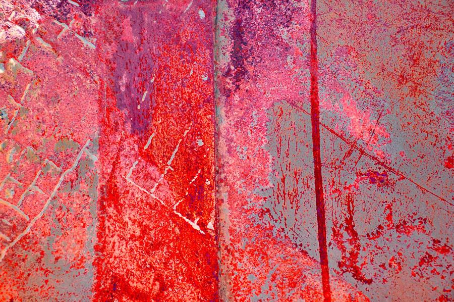 LEE ANN WOLFIN  Pink Metal Mixed Media 20 x 30
