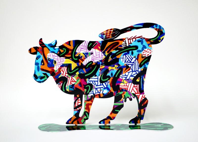 DAVID GERSTEIN Cow Shalva  Original Metal Sculpture | Open Edition