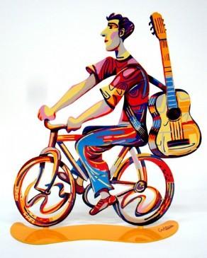 DAVID GERSTEIN Ride Troubadour  Original Metal Sculpture | Open Edition