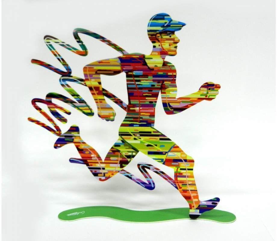 DAVID GERSTEIN Jog Man  Original Metal Sculpture | Open Edition