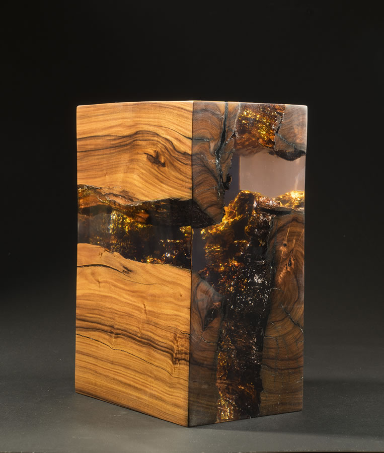 Jesus Hilera  Void VIII Original Palo Fierro Wood & Resin 11 X 8 X 6