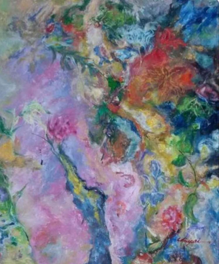CHIU PAI  Wild Gardens Original Oil 20 x 24