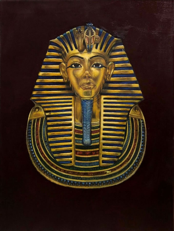 MAHMOUD AWAD  King Pharaoh Original Oil 16 X 12