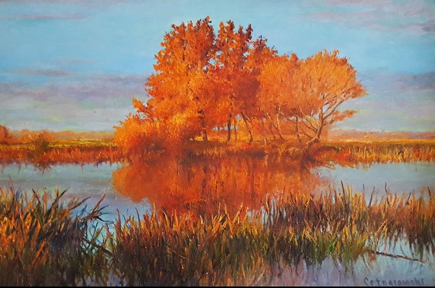 THOMAS CETNAROWSKI  Autumn Original Oil 24 X 36