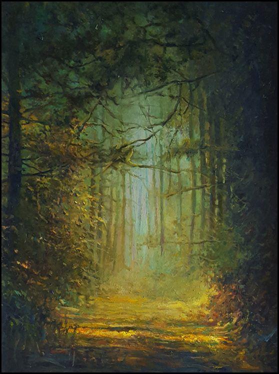 THOMAS CETNAROWSKI  Eternal Path Original Oil 24 X 18