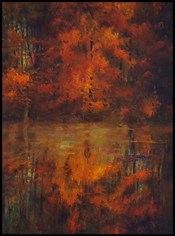 THOMAS CETNAROWSKI  Mystic Pond Afternoon Original Oil 24 X 18