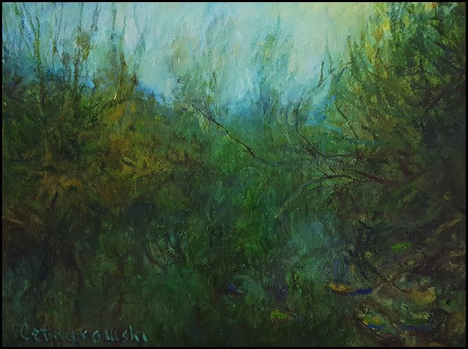 THOMAS CETNAROWSKI  Nostalgic Morning Original Oil 16 X 20