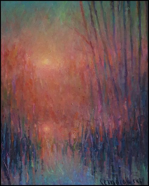 THOMAS CETNAROWSKI  Two Suns Original Oil 20 X 16