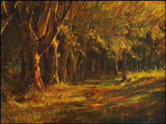 THOMAS CETNAROWSKI  Golden Path Original Oil 18 X 24